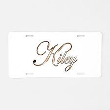 Gold Kiley Aluminum License Plate