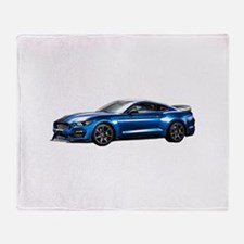 Funny Shelby mustang Throw Blanket