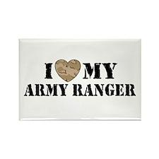 I Love My Army Ranger Rectangle Magnet
