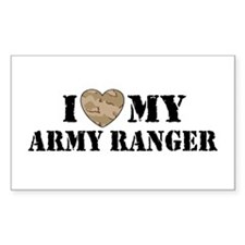 I Love My Army Ranger Rectangle Decal