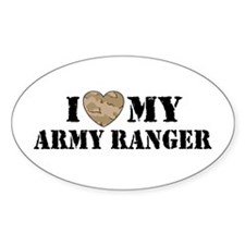 I Love My Army Ranger Oval Decal