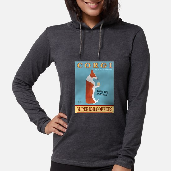 Corgi Superior Coffees Long Sleeve T-Shirt