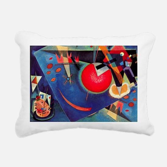 Kandinsky - Blue Rectangular Canvas Pillow