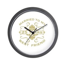 Married My Best Friend 25th Wall Clock