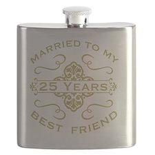 Married My Best Friend 25th Flask
