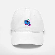 Cartoon Fish, pink, blue green Baseball Baseball Cap