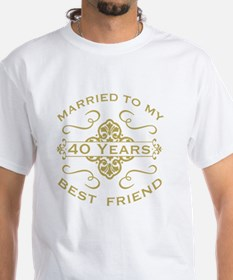 Married My Best Friend 40th Shirt