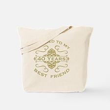 Married My Best Friend 40th Tote Bag
