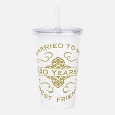 Married My Best Friend Acrylic Double-wall Tumbler
