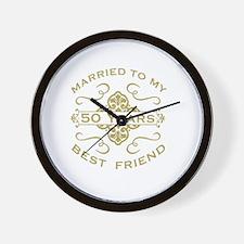 Married My Best Friend 50th Wall Clock