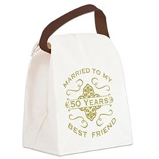 Married My Best Friend 50th Canvas Lunch Bag