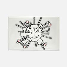 Grunge Alpha Base Rectangle Magnet