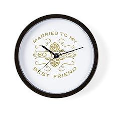 Married My Best Friend 60th Wall Clock