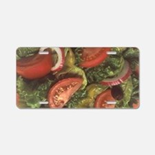 Garden Salad Aluminum License Plate