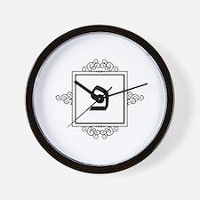 Peh Hebrew monogram Wall Clock