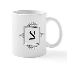 Tzadik Hebrew monogram Mugs