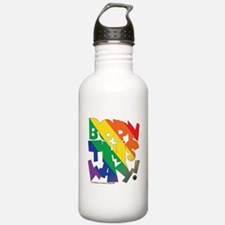 BORN THIS WAY gay Water Bottle