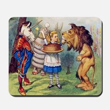 Alice, the Lion and the Unicorn Mousepad