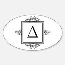 Delta Greek monogram Decal