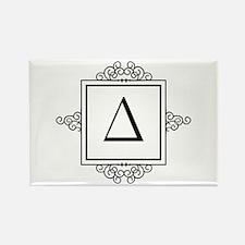 Delta Greek monogram Magnets