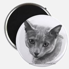 Russian Blue Cat Magnet
