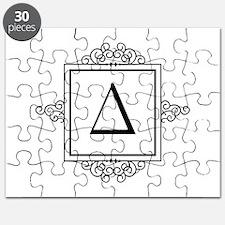 Delta Greek monogram Puzzle