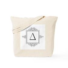 Delta Greek monogram Tote Bag