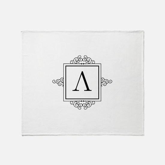 Lambda Greek monogram Throw Blanket