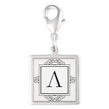 Lambda Greek monogram Charms