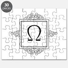 Omega Greek monogram Puzzle