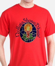 Christmas Stained Glass (Gaelic) T-Shirt