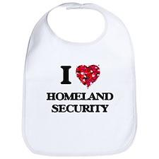 I love Homeland Security Bib