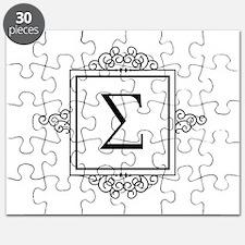Sigma Greek monogram Puzzle