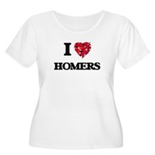 I love Homers Plus Size T-Shirt