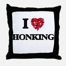 I love Honking Throw Pillow