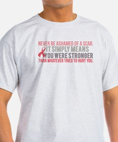 Never be Ashamed of a Scar T-Shirt
