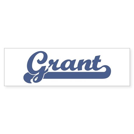 Grant (sport-blue) Bumper Sticker