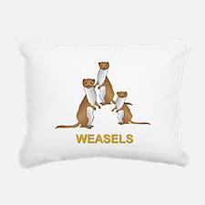 Weasels w Text Rectangular Canvas Pillow