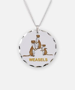 Weasels W Text Necklace