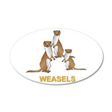Weasels W Text Wall Decal