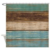 Weathered wood Shower Curtains