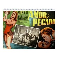 2015 Vintage Mexican Movie Posters Wall Calendar