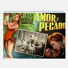 2017 Vintage Mexican Movie Posters Wall Calendar