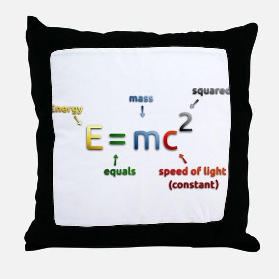 Mass-Energy_Equivalence_Formula Throw Pillow