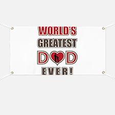 World's Greatest Dad Fishing Banner