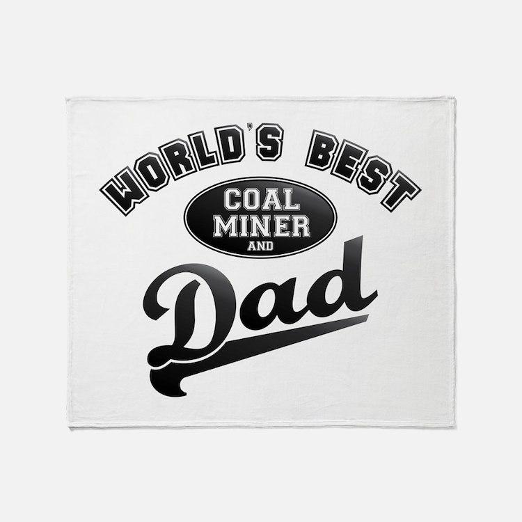 Coal Miner/Dad Throw Blanket