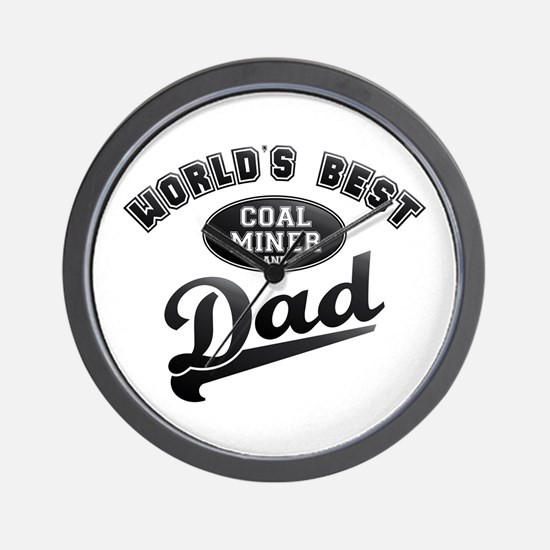Coal Miner/Dad Wall Clock