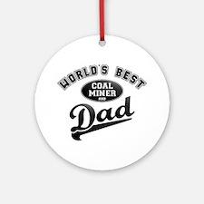 Coal Miner/Dad Ornament (Round)