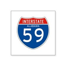 "Interstate 59 - AL Square Sticker 3"" x 3"""