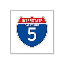 """Interstate 5 - CA Square Sticker 3"""" x 3"""""""